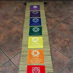 Chakra scroll tapestry decor